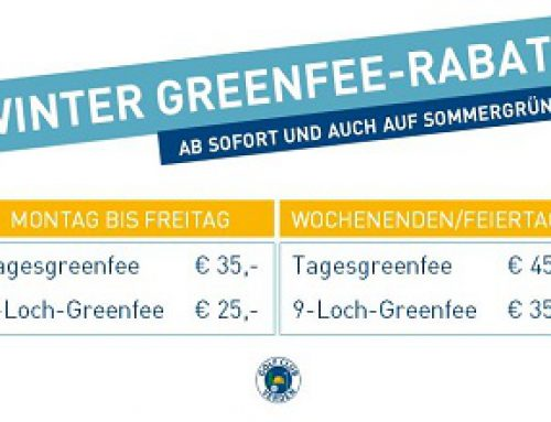 WINTER-GREENFEE Rabatt