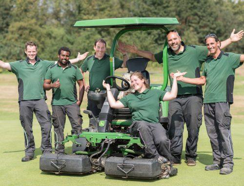 Fotoshooting mit dem Greenkeeper-Team